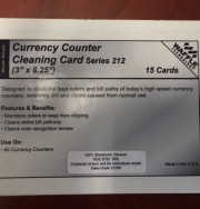 Note Counter Cleaning Cards